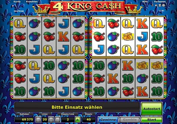 4 King Cash Novoline