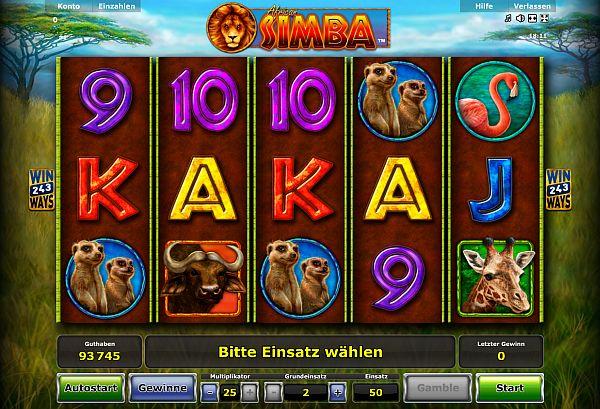 African Simba Novoline Slot