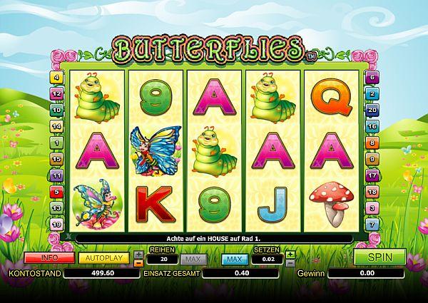 Butterflies kostenlos spielen