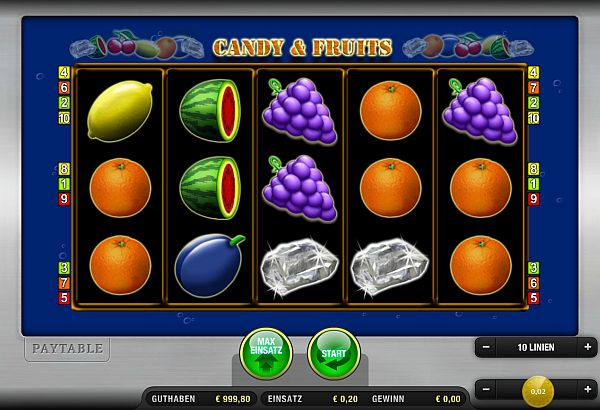 Candy & Fruits online spielen