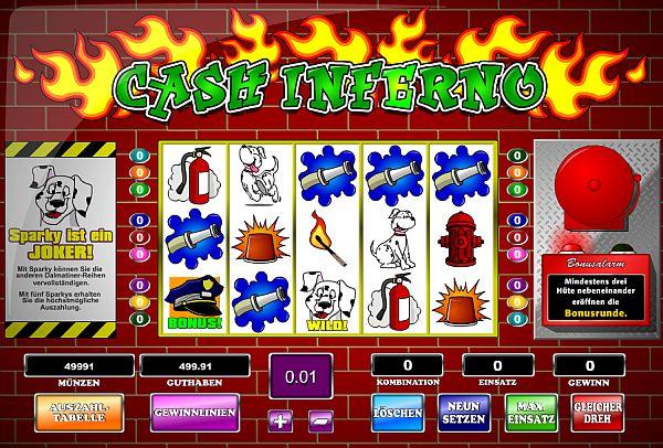 Cash Inferno Jackpotspiel