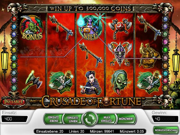 Crusade of Fortune Slot Spiel