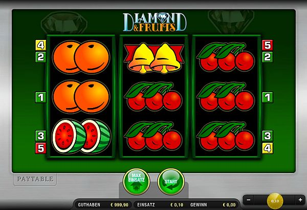 Diamond and Fruits online spielen bei Sunmaker