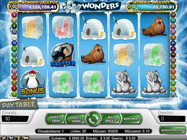 Icy Wonders Jackpot Spiel
