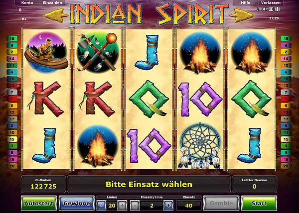 Indian Spirit online spielen im Stargames Casino