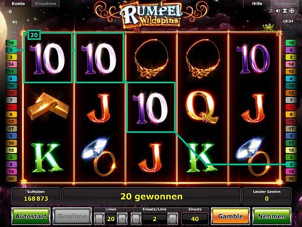Rumpel WildSpins™ Slot spel spela gratis i Novomatic Online Casinon