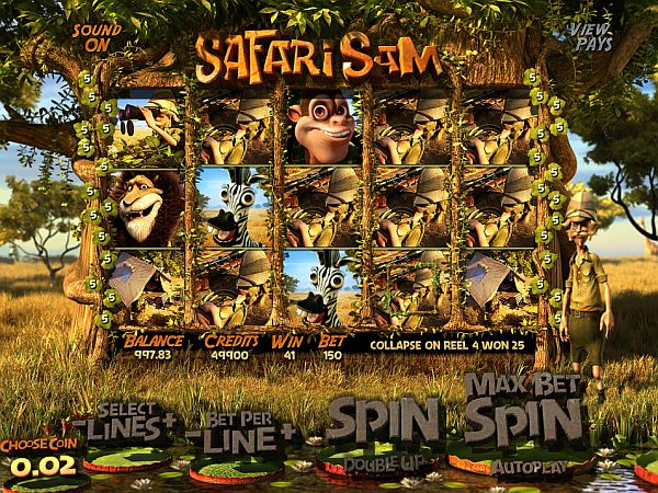 Safari Sam Spielautomat