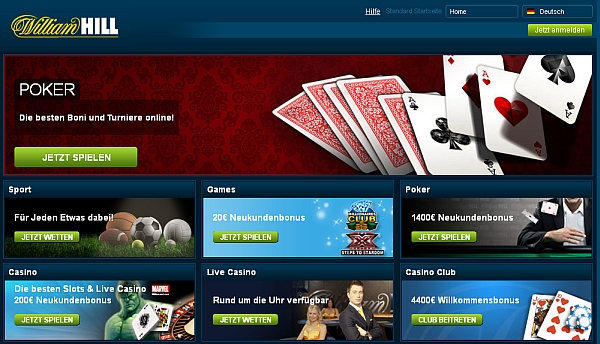 Spielen bei William Hill