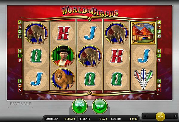 World of Circus Merkur Spiel